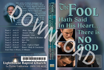 Brian Dunlop: The Fool Hath Said In His Heart... - Downloadable MP3