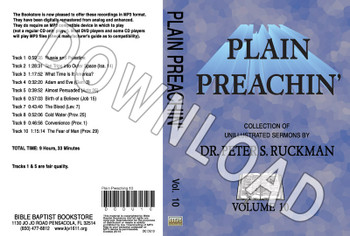 Plain Preachin' Volume 10 - Downloadable MP3