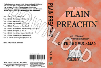 Plain Preachin' Volume 20 - Downloadable MP3