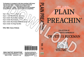 Plain Preachin' Volume 21 - Downloadable MP3