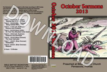 October 2013 Sermons - Downloadable MP3