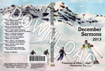 December 2013 Sermons - Downloadable MP3