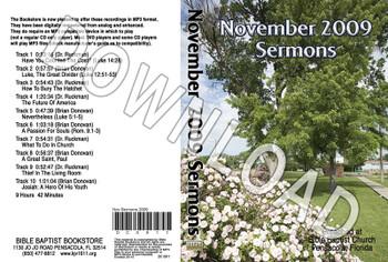 November 2009 Sermons - Downloadable MP3