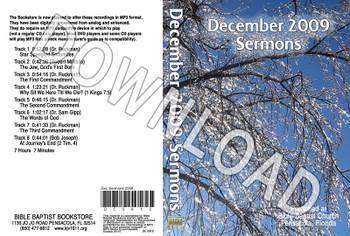 December 2009 Sermons - Downloadable  MP3