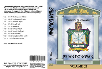 Brian Donovan Sermons on MP3 - Volume 32