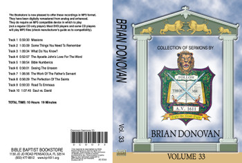 Brian Donovan Sermons on MP3 - Volume 33