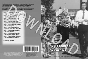 September 2014 Sermons - Downloadable MP3