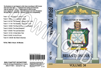 Brian Donovan: Sermons, Volume 34 - Downloadable MP3