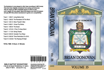 Brian Donovan Sermons on MP3 - Volume 35
