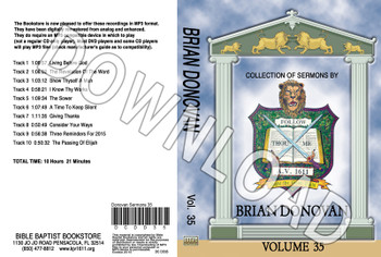 Brian Donovan: Sermons, Volume 35 - Downloadable MP3