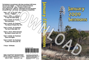 January 2009 Sermons - Downloadable MP3