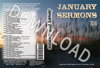 January 2016 Sermons - Downloadable MP3