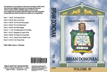 Brian Donovan Sermons on MP3 - Volume 39