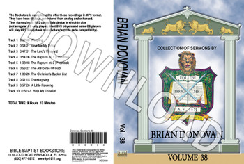 Brian Donovan: Sermons, Volume 38 - Downloadable MP3