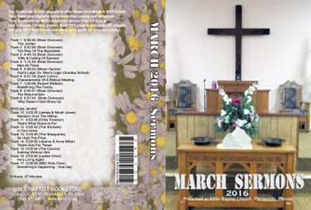 March 2016 Sermons - MP3