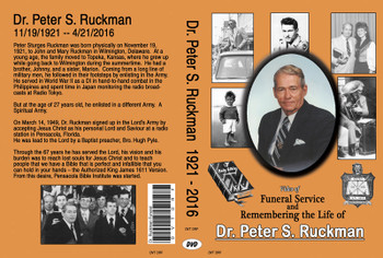 Funeral and Remembering The Life of Dr. Peter S. Ruckman - DVD