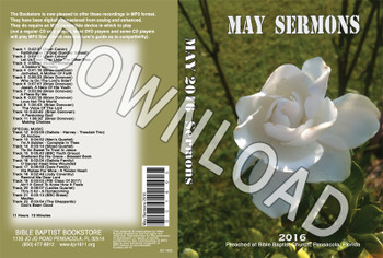 May 2016 Sermons - Downloadable MP3