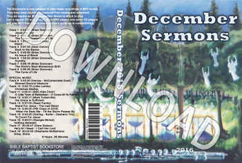 December 2016 Sermons - Downloadable MP3