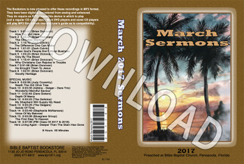 March 2017 Sermons - Downloadable MP3