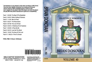 Brian Donovan Sermons on MP3 - Volume 40