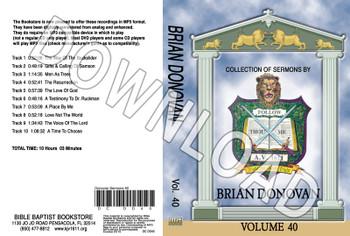 Brian Donovan: Sermons, Volume 40 - Downloadable MP3