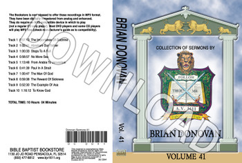 Brian Donovan: Sermons, Volume 41 - Downloadable MP3