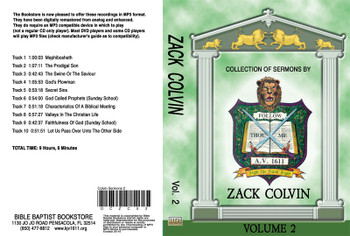Zack Colvin Sermons on MP3 - Volume 2