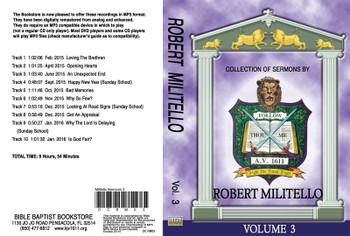 Robert Militello Sermons on MP3 - Volume 3