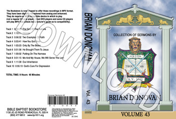 Brian Donovan: Sermons, Volume 43 - Downloadable MP3
