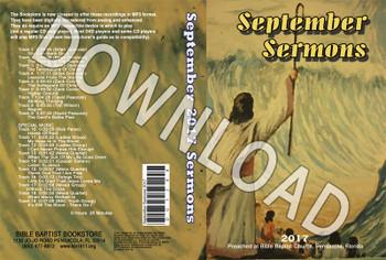 September 2017 Sermons - Downloadable MP3