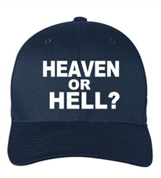 Scripture Hat - Heaven or Hell (navy blue)