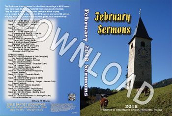 February 2018 Sermons - Downloadable MP3