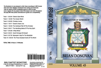 Brian Donovan Sermons on MP3 - Volume 45