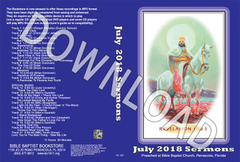 July 2018 Sermons - Downloadable MP3