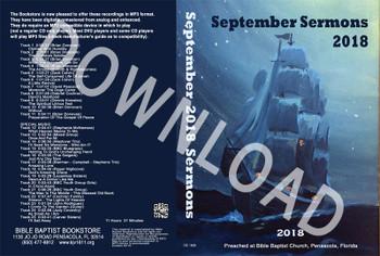 September 2018 Sermons - Downloadable MP3