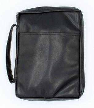 "Imitation Leather - Bible Cover Black (6.5"" x 9"" x 1.75"")"