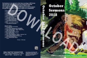 October 2018 Sermons - Downloadable MP3