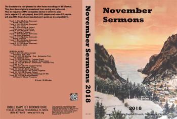 November 2018 Sermons - MP3