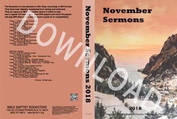 November 2018 Sermons - Downloadable MP3