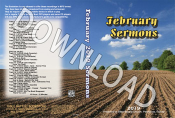 February 2019 Sermons - Downloadable MP3