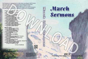 March 2019 Sermons - Downloadable MP3