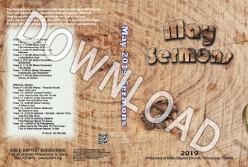 May 2019 Sermons - Downloadable MP3