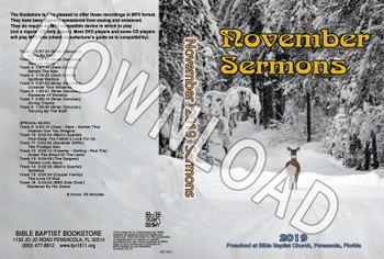 November 2019 Sermons - Downloadable MP3