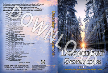 December 2019 Sermons - Downloadable MP3