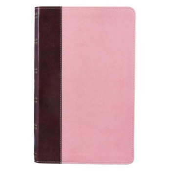 Christian Art Publishers:  Giant Print Lux-Leather Pink/Brown