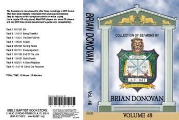Donovan Sermons on MP3 - Volume 48