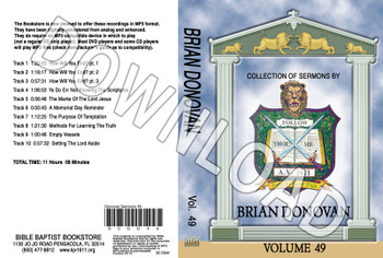 Brian Donovan: Sermons, Volume 49 - Downloadable MP3