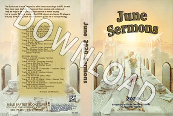 June  2020 Sermons  - Downloadable MP3