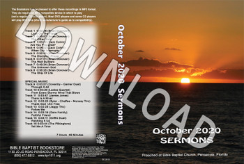 October  2020 Sermons  - Downloadable MP3