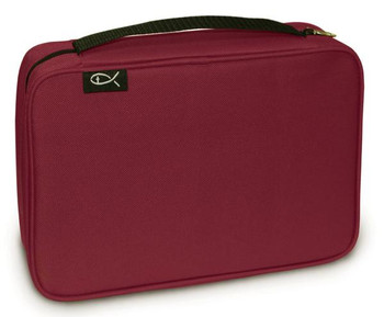 """Canvas - Bible Cover Burgundy (7.25"""" x 10.2"""" x 2.25"""")"""